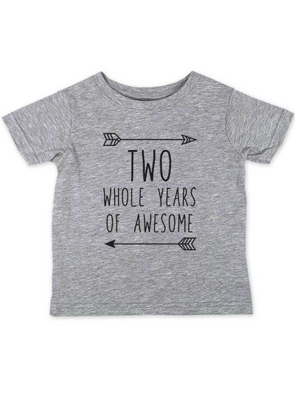 Two Whole Years of Awesome - wallsparks cute & funny Brand cool boho Second 2nd Birthday Shirt Age 2 Two year old - Soft Toddler Shirt