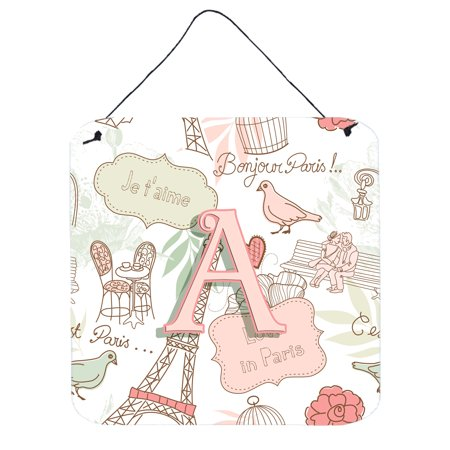 Letter A Love in Paris Pink Wall or Door Hanging Prints CJ2002-ADS66
