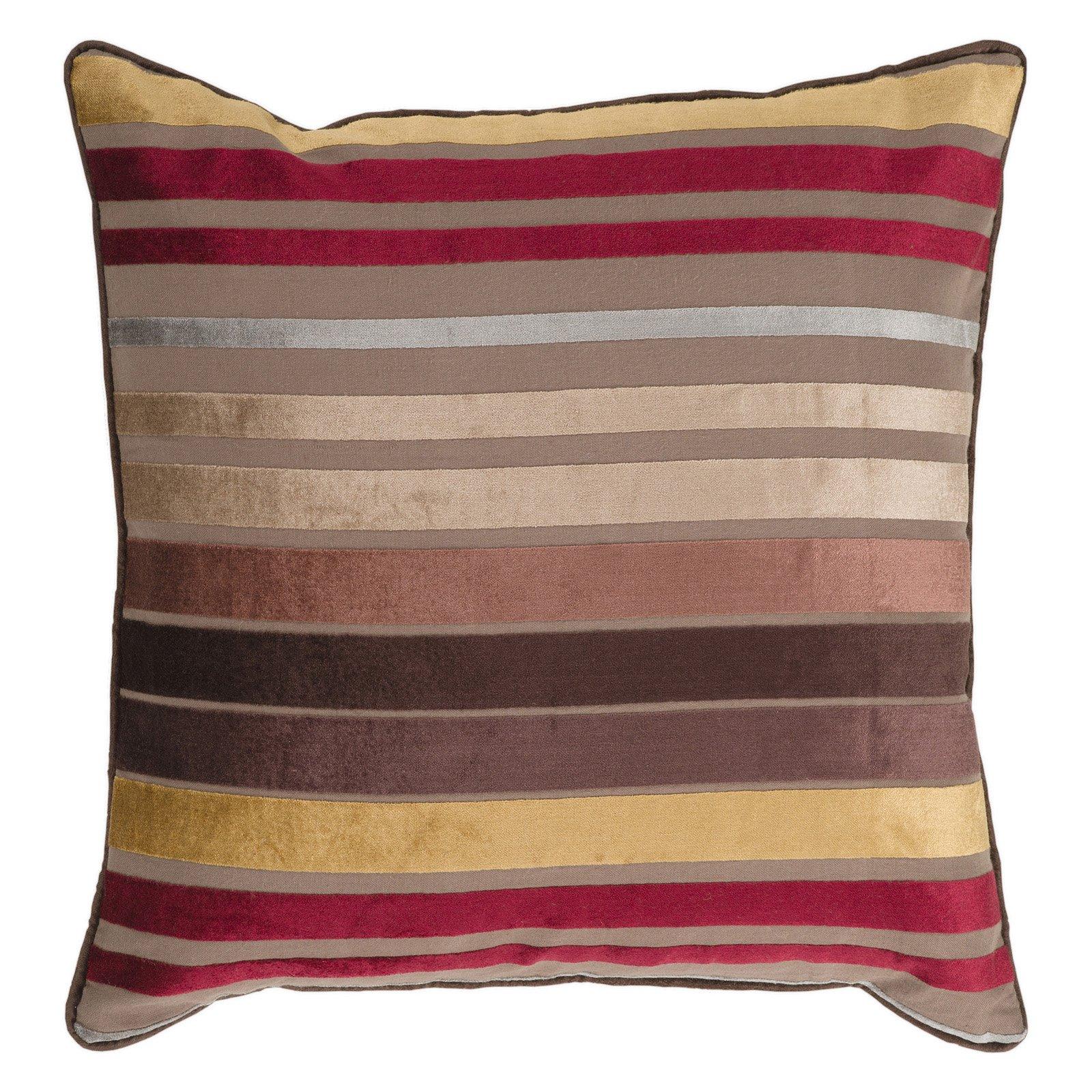 Surya Yarmouth Stripe Decorative Pillow - Brown