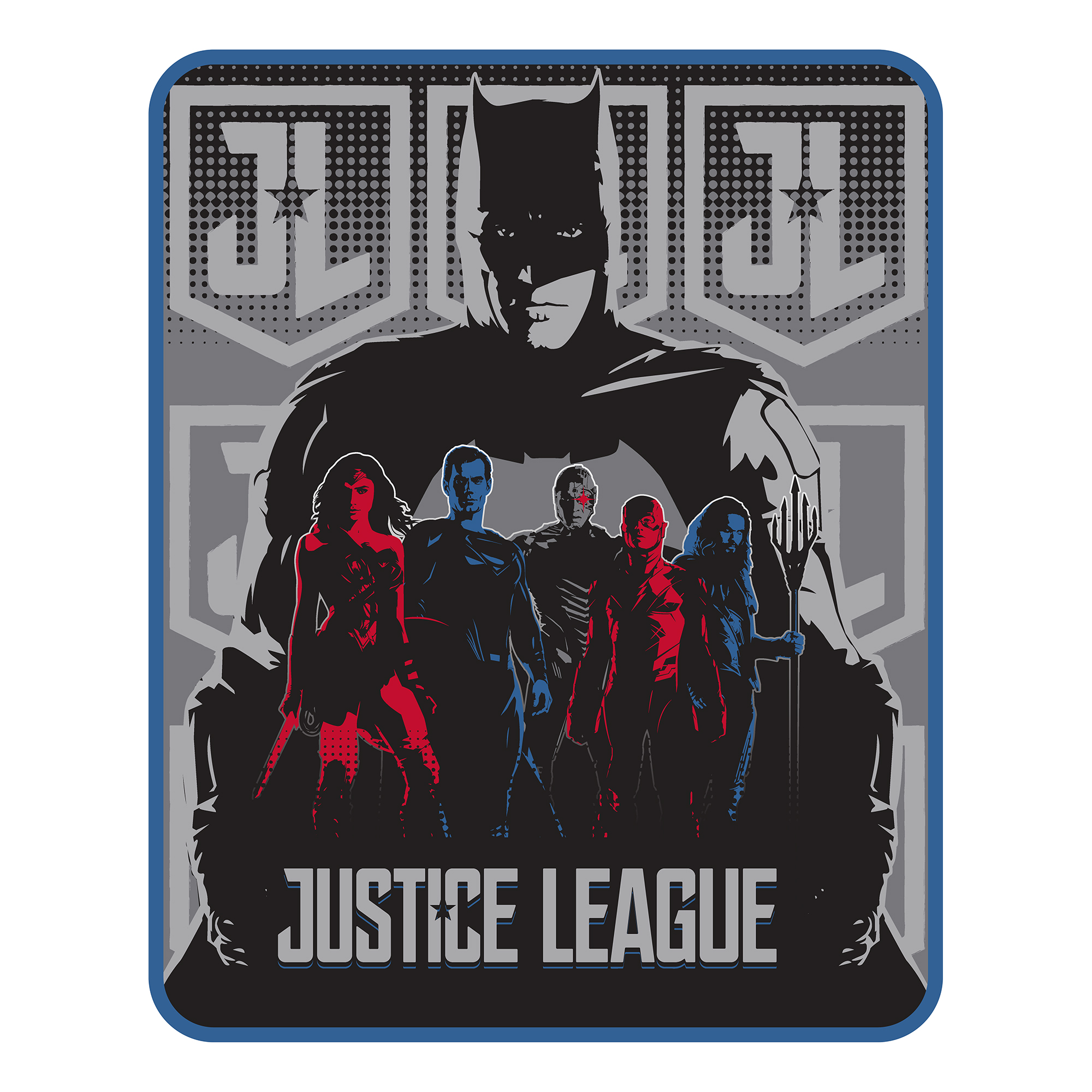 Justice League Gather The Team Silk Touch Throw, 1 Each