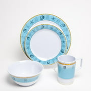 Galleyware Company Decorated Offshore Melamine 24 Piece Dinnerware Set, Service for 6