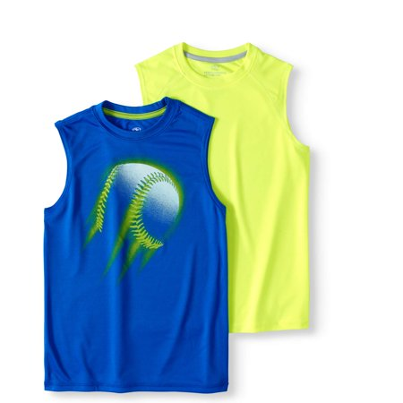 Carters Boys Tank Top - Boys' Sleeveless Muscle T-Shirt Value 2 Pack