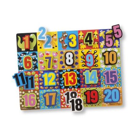 Jumbo Numbers Wooden Chunky Puzzle (JUMBO NUMBERS CHUNKY PUZZLE)