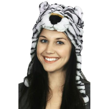 Plush Animal Winter Hat White Tiger - Walmart.com 33e2f014054