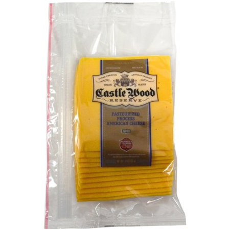Castle Wood Pasteurized Process America Cheese Slices, 8 ...