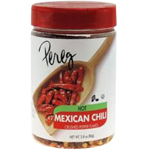 Pereg Hot Mexican Chili Crushed Pepper Flakes, 2.8 oz