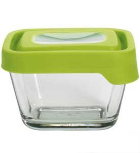 Anchor Hocking 1 7/8 Cup Rectangular Food Storage Containers With Green  TrueSeal Airtight