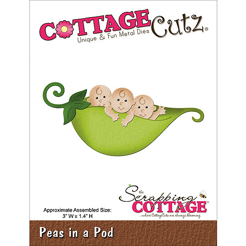 "CottageCutz Die, 3"" x 1.4"", Peas In A Pod"