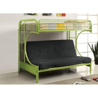 Bowery Hill Metal Loft Bed in Green