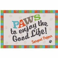 Paws to Enjoy Dog Personalized Floor Mat