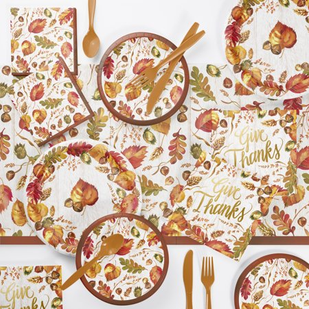 Thanksgiving Party Supplies (Fall Give Thanks Thanksgiving Party Supplies Kit (Serves 8)