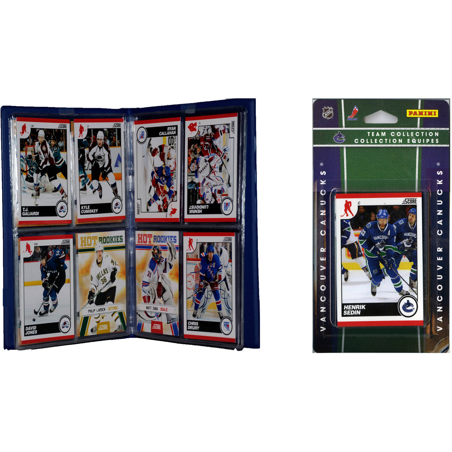 C&I Collectables NHL Vancouver Canucks Licensed 2010 Score Team Set and Storage Album