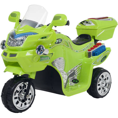 Ride on Toy, 3 Wheel Motorcycle Trike for Kids by Rockin Rollers – Battery Powered Ride on Toys for Boys and Girls, 2 - 5 Year Old - Green FX