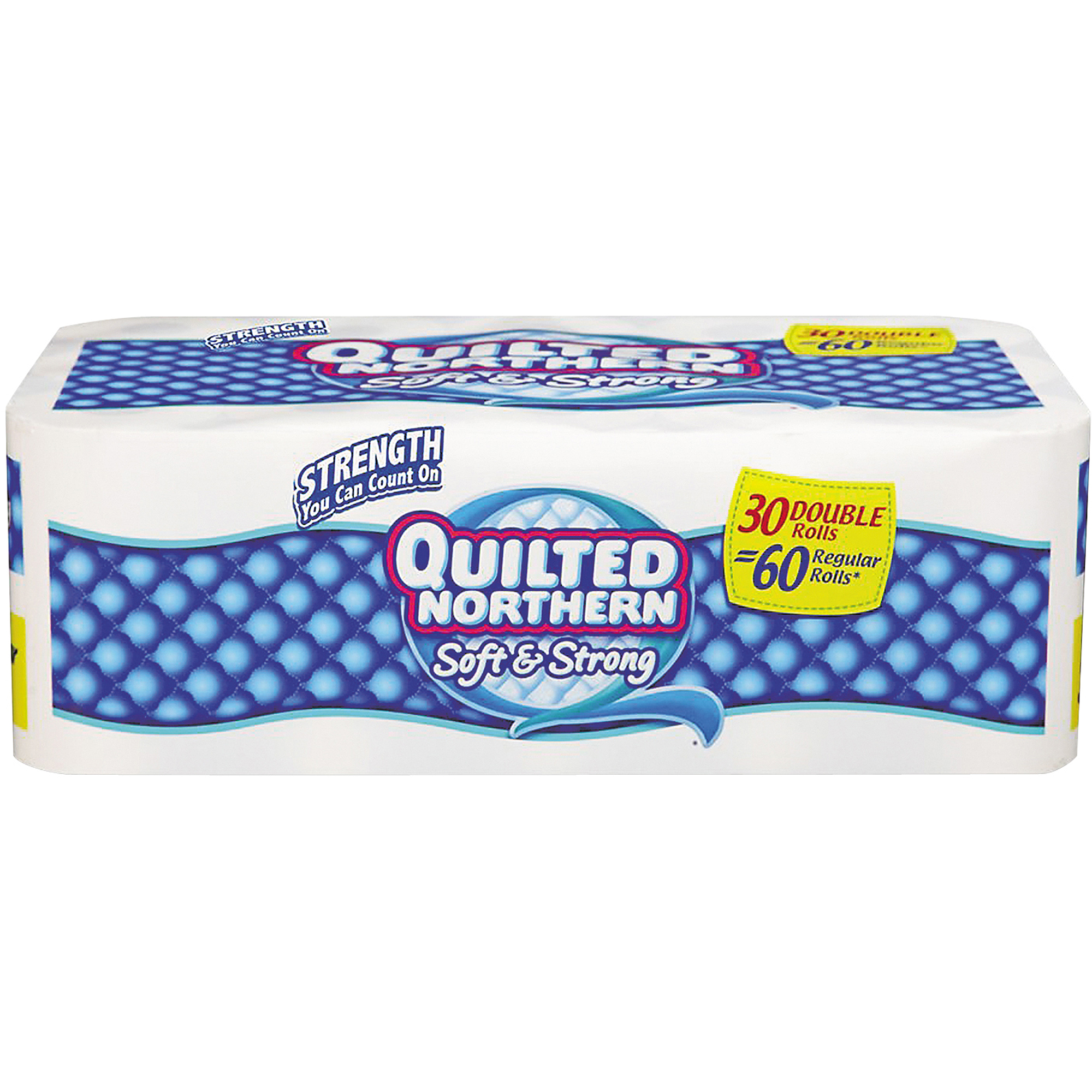 Quilted Northern Soft & Strong Bath Tissue Double Rolls, White, 190 sheets, 30 rolls