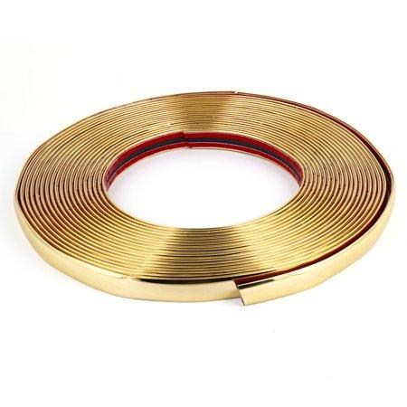 Unique Bargains Gold Tone Rust Resistant Flexible Chrome Moulding Trim Strip 49Ft Length (Wheel Molding Trim)