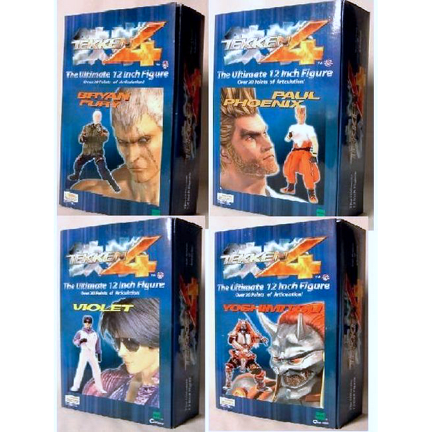 Tekken 4 Series 2 Bryan Fury Paul Phoenix Violet Yoshimitsu 12 Deluxe Action Figure Collector Set Of 4 Martial Arts Fighting 20 Point Articulation Video Game Merchandise Limited Edition Collectible Walmart Com Walmart Com