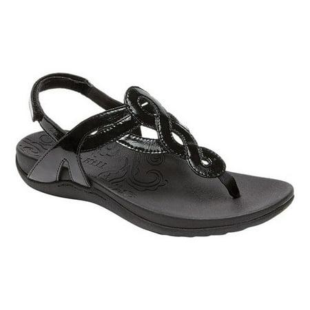 Women's Rockport Cobb Hill Ramona Thong Sandal Patent Leather T-strap Sandals