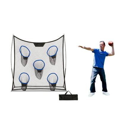 6.9' Portable Football Training Net With Five Targets and Carry Bag by Trademark