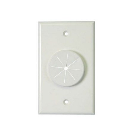 Gang Wireport Wall Plate (Midlite Single Gang Wireport Cable Pass Through Wall Plate With Grommet )