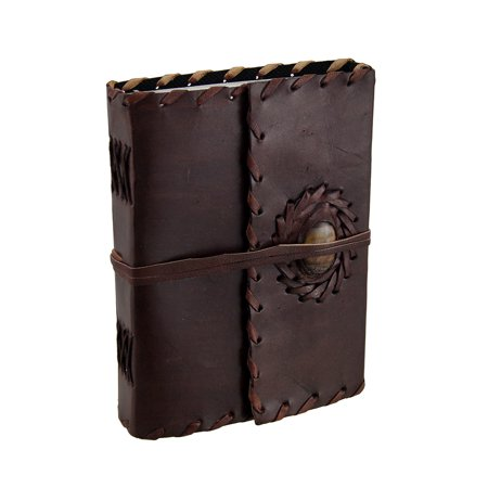Leather Bound Journal w/Tiger Eye Accent