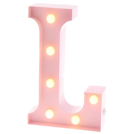 Barnyard Designs Metal Marquee Letter L Light Up Wall Initial Nursery Letter, Home and Event Decoration 9