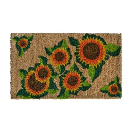 Imports Decor Creel Happy Sunflower Doormat