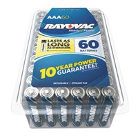 60-Pack Rayovac AAA Alkaline Battery