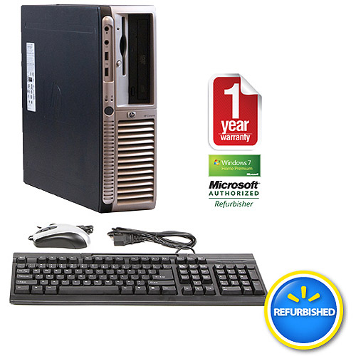 Refurbished HP DX7200 Black Desktop PC with Intel Pentium 4 Processor, 2GB Memory, 160GB Hard Drive and Windows 7 Home Premium 32-Bit (Monitor Not Included)