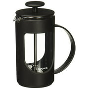 BonJour Coffee Unbreakable Plastic French Press, 12.7-Ounce, Ami-Matin, Black