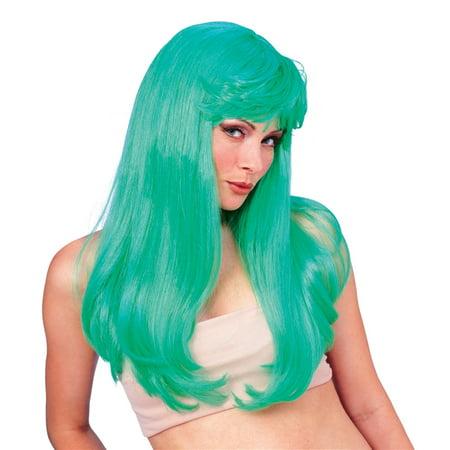 Glamour Wig Green - Green Oompa Loompa Wig