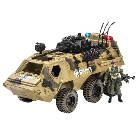 Memtes Military Fighter Army Truck Tank Toy with Mini Army Soldier with Lights and Sound (Toy Soldier Shop)