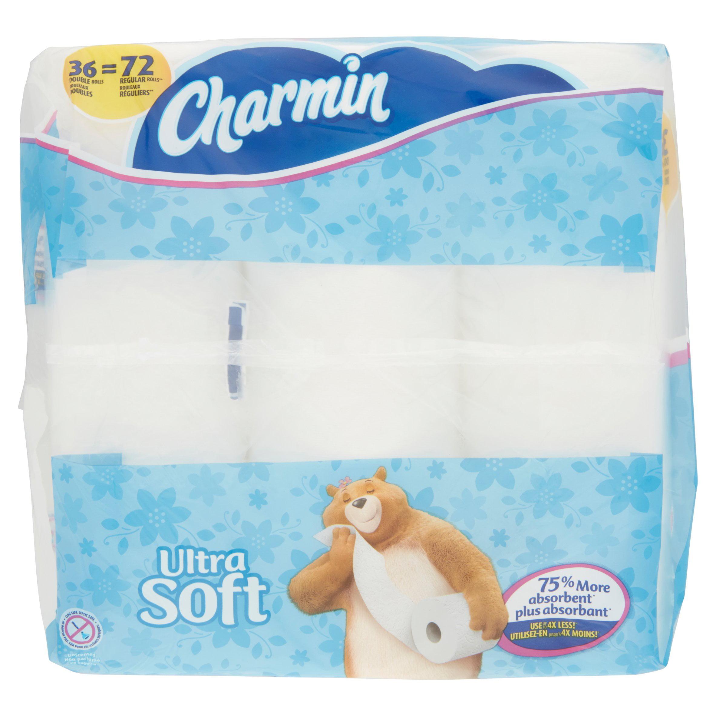 Charmin Ultra Soft Toilet Paper 36 Double Rolls - Walmart.com