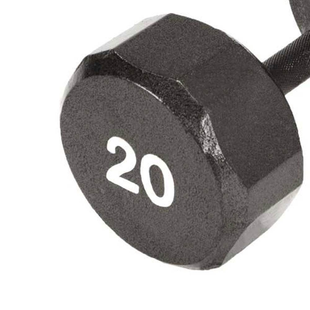Marcy Pro TSA Hex 20 Pound Home Gym Iron Free Weight Single Dumbbell Black