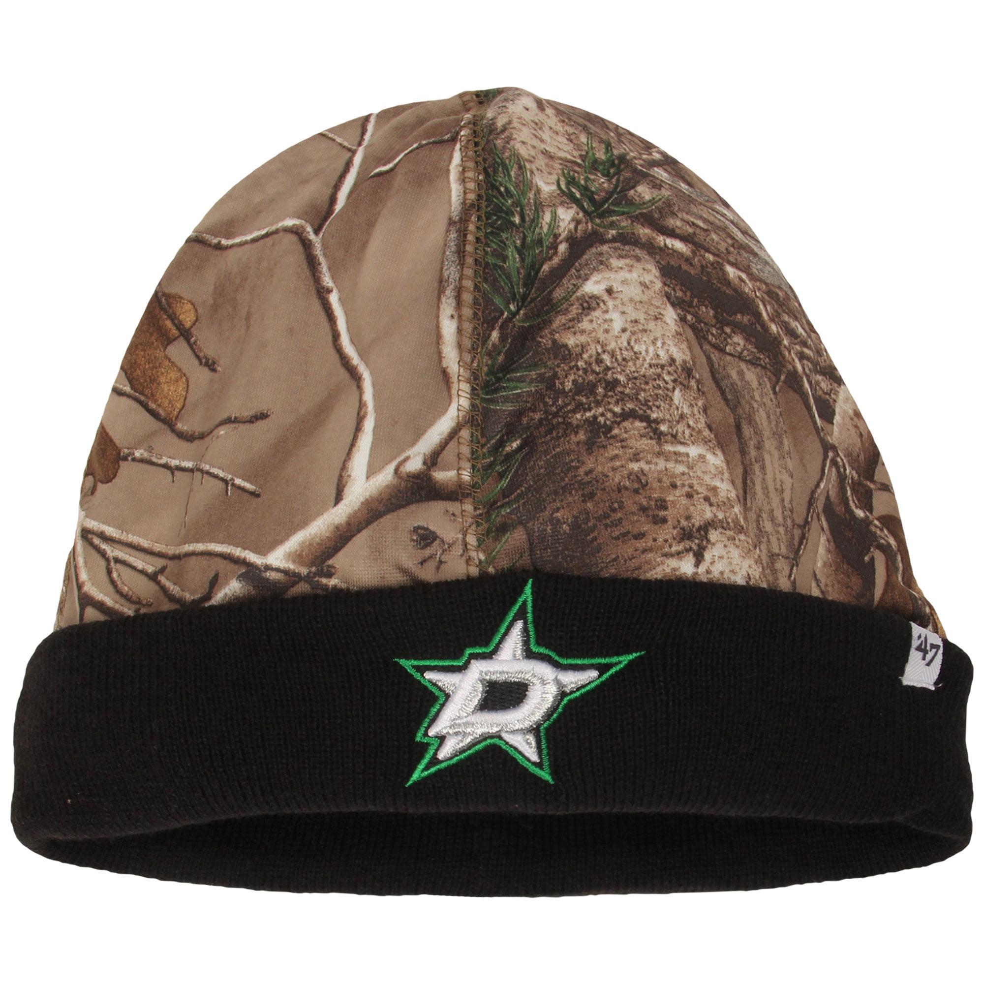 Dallas Stars '47 Real Tree Foxden Cuffed Knit Hat - Camo/Black - OSFA