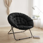 Urban Shop Black Oversized Faux Fur Moon Chair, Available in Multiple Colors