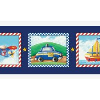 Product Image 879299 Kids Transportation Wallpaper Border