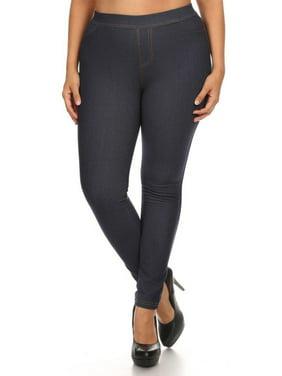 3809b684f7fe3 Product Image Chandly Women s Plus Size Fleece Lined Real Pocket Jeggings  Jean Leggings
