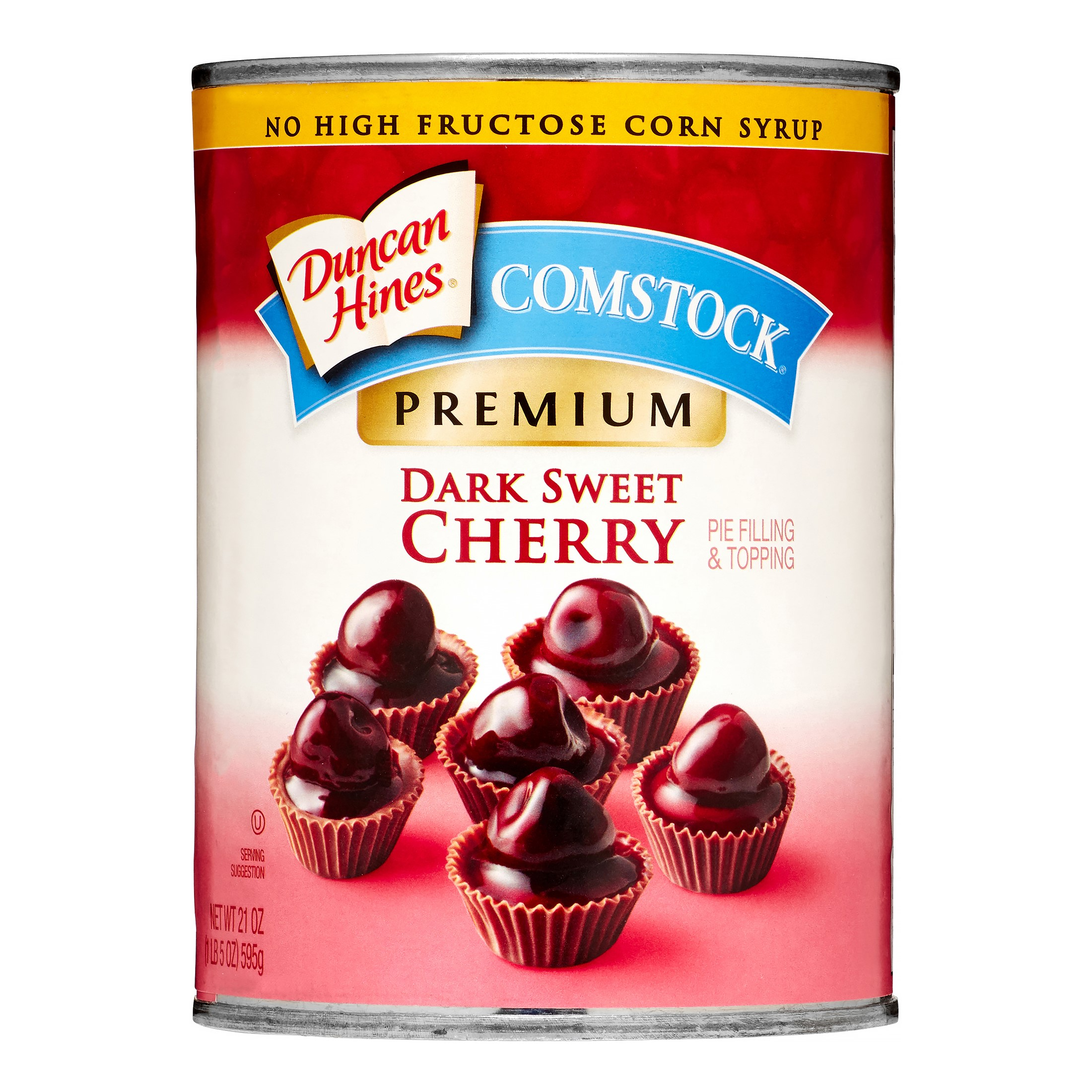 Duncan Hines Comstock Pie Filling & Topping, Dark Sweet Cherry, 21 Oz