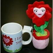 I Love You! Plush Flower / Mug