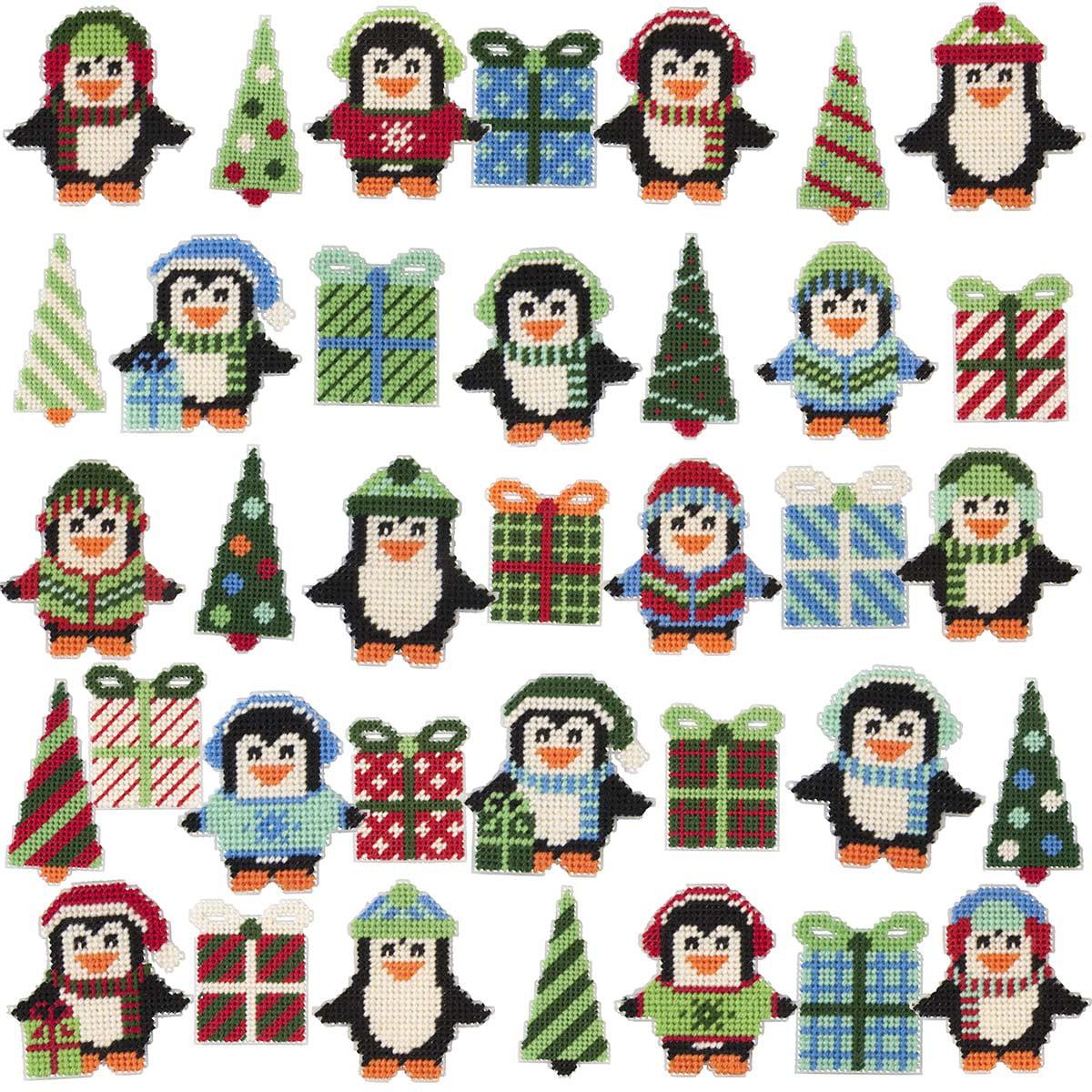 Herrschners® Penguin Parade Ornaments Plastic Canvas Kit