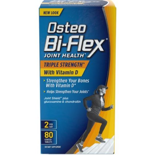 Osteo Bi-Flex Glucosamine Chondroitin with Joint Shield Coated Tablets, 80 count