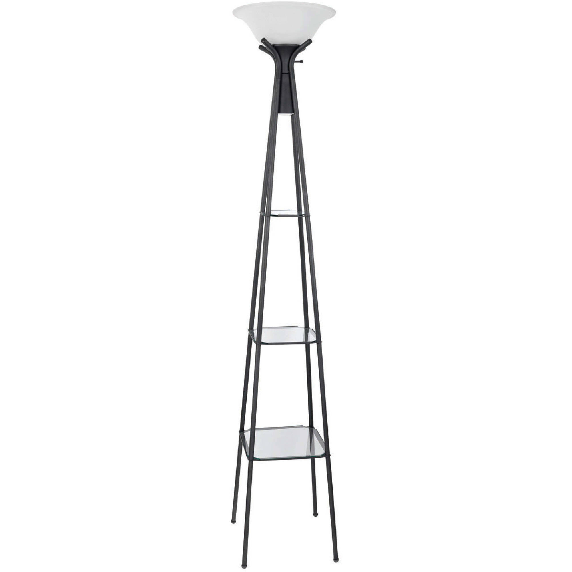 Mainstays 69 Etagere Floor Lamp Charcoal Finish Com