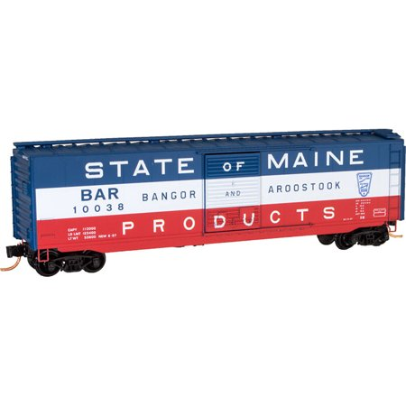 Micro-Trains MTL N-Scale 50ft Box Car Bangor Aroostook/BAR State of Maine (Stores In Bangor Maine)