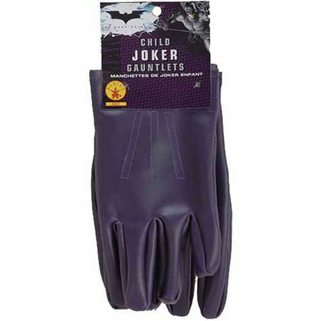 Batman Dark Knight The Joker Gloves Child Halloween Costume Accessory](Joker Girl Halloween Makeup)