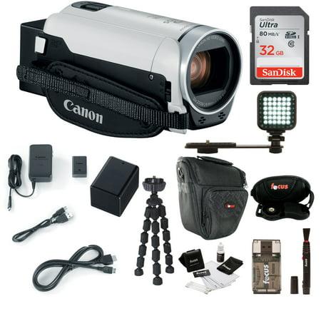 Canon VIXIA HF R800 Camcorder (White) with 32GB Supreme (Canon Vixia Hf R800 Vs Sony Cx405)