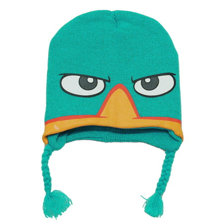 Phineas And Ferb Perry The Platypus Agent P Kids Pilot Peruvian Laplander Hat - Airplane Pilot Hat