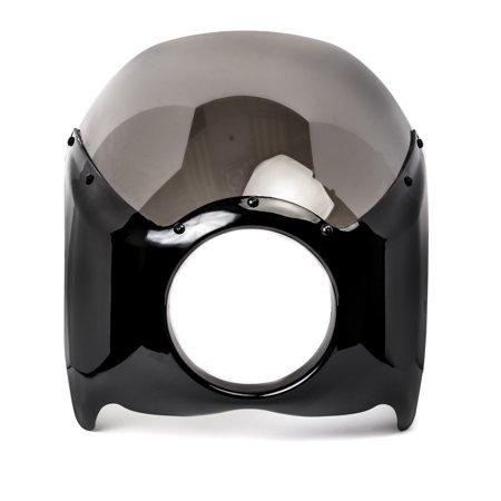 Krator Black & Smoke Headlight Fairing Windshield Kit for Harley Davidson FXB Dyna Sturgis 80 - image 1 of 6