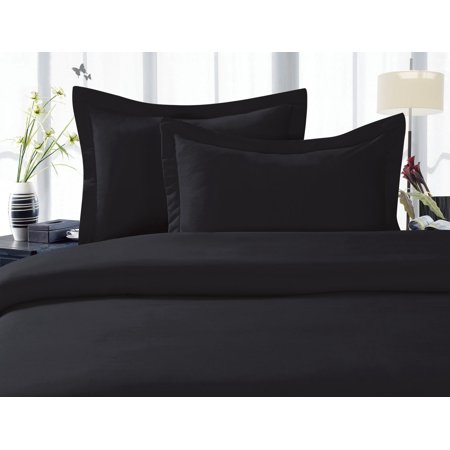 1800 Thread Count Egyptian Quality Super Soft Wrinkle Free 2-Piece Pillowcases- HypoAllergenic, Standard Size - Black