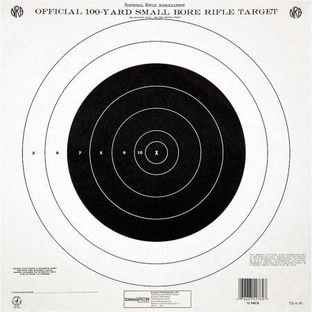 Champion Traps and Targets GTQ4 NRA Target, 100 Yard Single Bullseye, 12pk (Nra Pistol Targets)