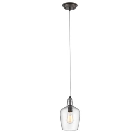 "CHLOE Lighting ELLIE Transitional 1 Light Rubbed Bronze Ceiling Mini Pendant 7"" Wide"